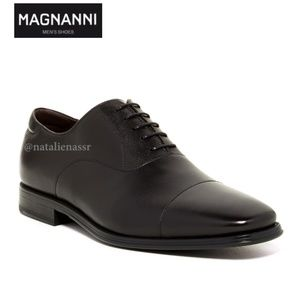 Magnanni Salamanca Oxford Black leather Cap Toe